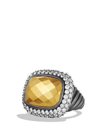 David Yurman - Waverly Ring with Gold Dome and Diamonds
