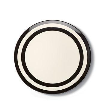kate spade new york - Melamine Dinner Plate, Black Stripe