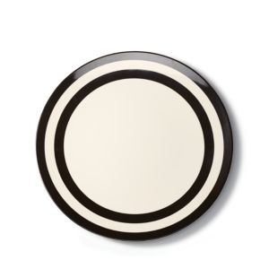 kate spade new york Melamine Dinner Plate, Black Stripe