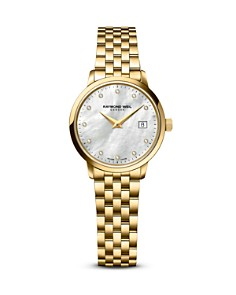 Raymond Weil - Toccata Gold PVD Stainless Steel Watch with Diamonds, 29mm