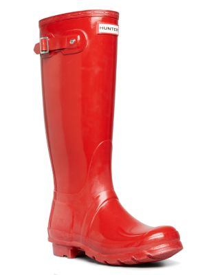 $Hunter Women's Original Tall Gloss Rain Boots - Bloomingdale's