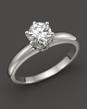 Click here for Diamond Solitaire Ring in Platinum  .70 ct. t.w. -... prices