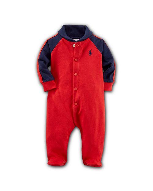 Ralph Lauren - Boys' Rugby Shawl Collar Footie - Baby
