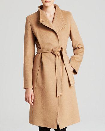 Cinzia Rocca - Coat - Asymmetric Belted Camel Hair