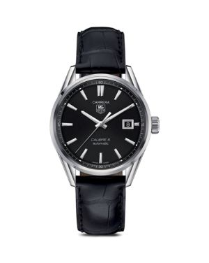 TAG HEUER Carrera Calibre 5 Stainless Steel Watch, 39Mm in Black