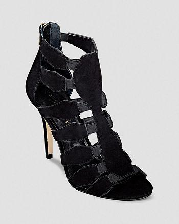 IVANKA TRUMP - Open Toe Caged Booties - Marjory Stretch High-Heel