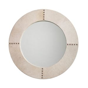 Jamie Young Cross Stitch Mirror, White