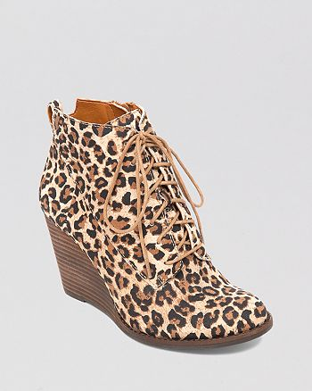 Lucky Brand - Lace Up Wedge Booties - Yoanna