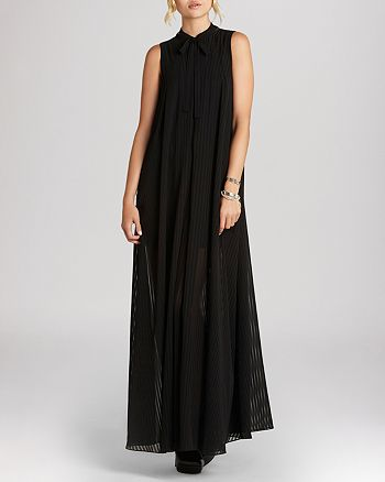 BCBGeneration - High Neck Pleated Maxi Dress