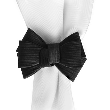 $Juliska Tuxedo Napkin Ring, Black - Bloomingdale's