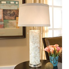 Regina Andrew Design - Mother of Pearl Column Lamp with Lucite Base