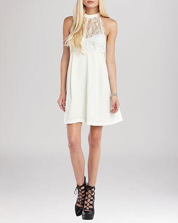 BCBGENERATION - Lace Accent Dress
