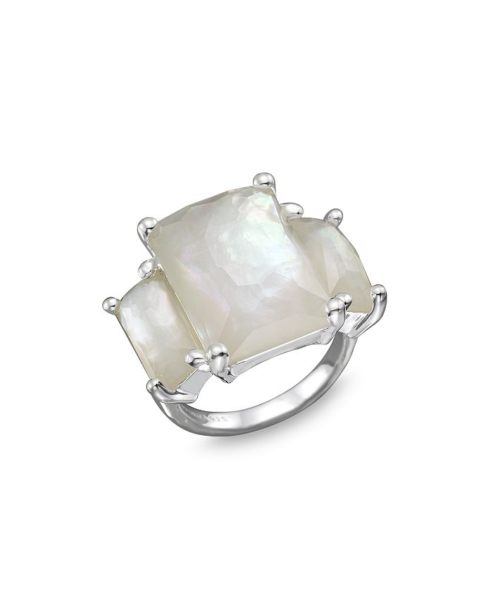 IPPOLITA - Sterling Silver Rock Candy 3-Stone Prong Set Ring in Mother of Pearl