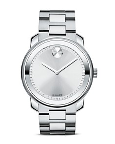 Movado - Movado BOLD Stainless Steel and Silver Tone Dial Watch, 42.5mm