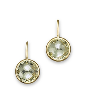 Green Amethyst Small Drop Earrings in 14K Yellow Gold - 100% Exclusive