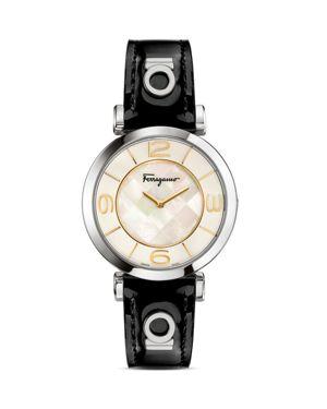Salvatore Ferragamo Gancino Deco Stainless Steel Watch, 39mm