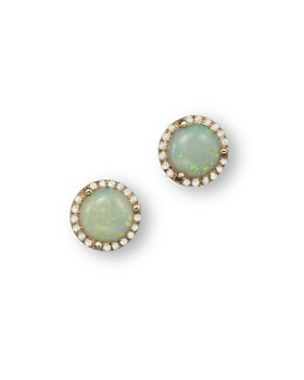 Bloomingdale's - Opal and Diamond Halo Stud Earrings in 14K Yellow Gold- 100% Exclusive