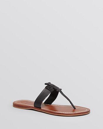 02a20222459 Tory Burch - Flat Logo Thong Sandals - Moore
