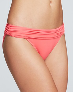 Carmen Marc Valvo - Shirred Banded Bikini Bottom