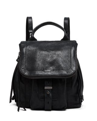 WARREN LEATHER BACKPACK - BLACK