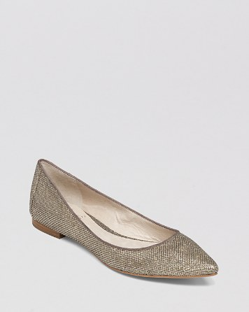 $VINCE CAMUTO Pointed Toe Flats - Hasse Metallic - Bloomingdale's