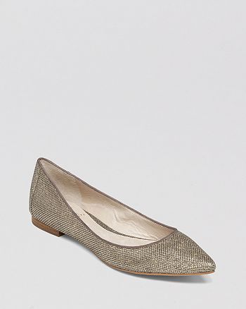 VINCE CAMUTO - Pointed Toe Flats - Hasse Metallic