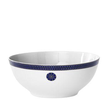 Royal Limoges - Blue Star Rimmed Salad Bowl