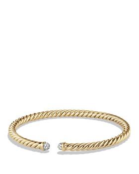David Yurman - Precious Cable Cablespira Bracelet with Diamonds in Gold
