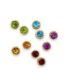 Gemstone Bezel Set Stud Earrings in 14K Yellow Gold - 100% Exclusive - Bloomingdale's_0
