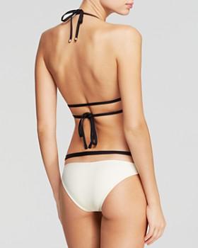 Vitamin A - Opposites Attract Serra Keyhole Wrap Bikini Top & Opposite Attract Olivia Hipster Bottom