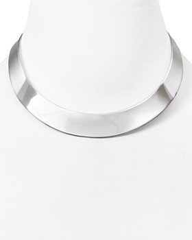 "Robert Lee Morris Soho - Half Moon Collar Necklace, 14"""