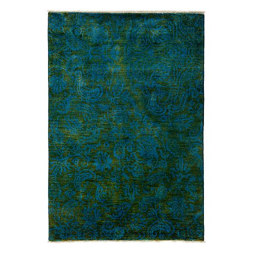 """Solo Rugs - Adina Collection Oriental Rug, 4'1"""" x 6'"""