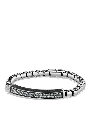 David Yurman - Pavé ID Bracelet with Gray Sapphires