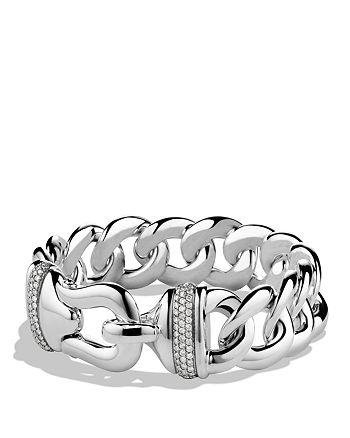 David Yurman - Buckle Single-Row Bracelet with Diamonds