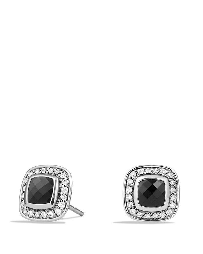 David Yurman - Petite Albion Earrings with Black Onyx and Diamonds