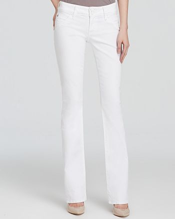 Hudson - Beth Baby Bootcut Jeans in White