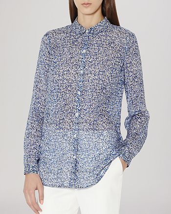 REISS - Shirt - Barkley Longline Silk