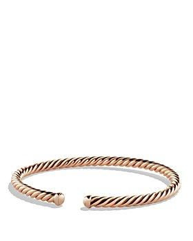 David Yurman - Precious Cable Cablespira Bracelet in Rose Gold