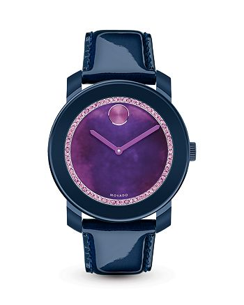 Movado BOLD - Navy Watch with Purple Watercolor Sunray Dial, 42mm - 100% Exclusive