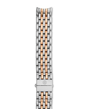 MICHELE - Serein Two-Tone Stainless Steel & Rose Gold 7-Link Watch Bracelet, 16mm
