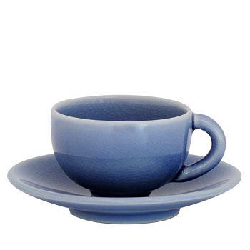 Jars - Tourron Blue Chardon Teacup & Saucer