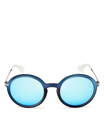 e10e484ce Ray-Ban Unisex Round Oversized Mirror Sunglasses, 50mm | Bloomingdale's