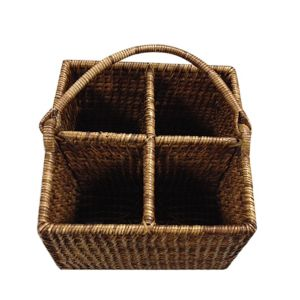The French Chefs Maria Rattan 4-Section Caddy