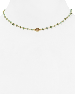 Ela Rae Libi Beaded Emerald Necklace, 14