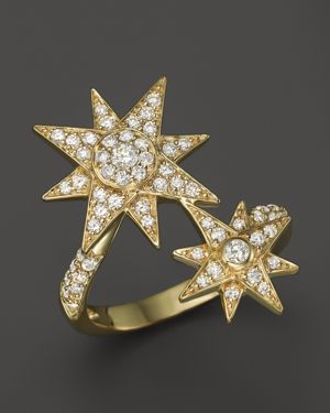 Diamond Starburst Statement Ring in 14K Yellow Gold, .65 ct. t.w. - 100% Exclusive