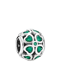 PANDORA Moments CollectionSterling Silver & Cubic Zirconia Green Lucky Clover Charm - Bloomingdale's_0