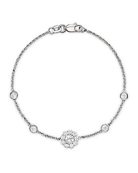 Bloomingdale's - Diamond Station Bracelet in 14K White Gold, .80 ct. t.w.- 100% Exclusive
