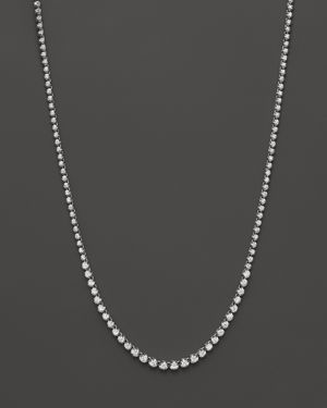 Diamond Graduated Tennis Necklace in 14K White Gold, 4.0 ct. t.w. - 100% Exclusive 1331600
