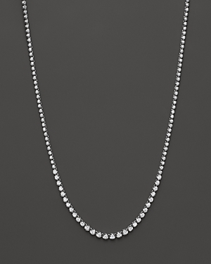 Diamond Graduated Tennis Necklace in 14K White Gold, 4.0 ct. t.w. - 100% Exclusive