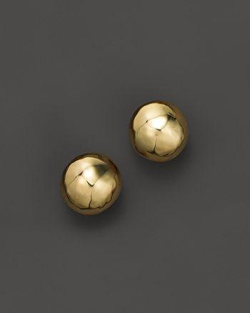 IPPOLITA - Glamazon® 18K Gold Hammered Ball Stud Earrings
